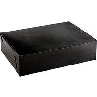 Enjay B-BLK-14195 19 inch x 14 inch x 5 inch Black Half Sheet Cake / Bakery Box   - 10/Pack