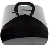 Enjay B-TULIPQUADBLACK 8 inch x 8 inch x 6 1/2 inch Black Quad Cupcake Tulip Box with Insert   - 10/Pack