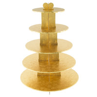 Enjay CS-5T-GOLD 5-Tier Disposable Gold Cupcake Treat Stand