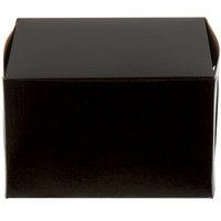 Enjay B-BLK-885 8 inch x 8 inch x 5 inch Black Cake / Bakery Box   - 10/Pack