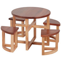 Eastern Tabletop 1825 Nordic Table-Setters Wood Countertop Table Riser with 4 Stools