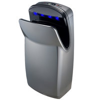 World Dryer V639-A VMax Silver High Impact ABS High-Speed Vertical Hand Dryer - 110-120V, 1200W