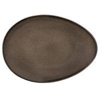 Oneida L6753059385 Rustic 14 inch Chestnut Porcelain Eclipse Plate - 12/Case