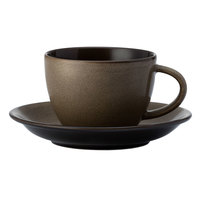 Oneida L6753059500 Rustic 6 inch Chestnut Porcelain Teacup Coupe Saucer - 24/Case