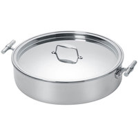 Eastern Tabletop 5926 6 Qt. Mirrored Stainless Steel Induction Pot with Flat Lid and Double Handles