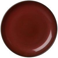 Oneida L6753074119 Rustic 6 1/2 inch Crimson Porcelain Round Coupe Plate - 24/Case