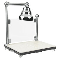 Bon Chef 9697CH Single Lamp 24 inch x 18 inch Carving Station with Sneeze Guard and Chrome Lamp Shade