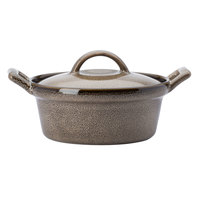 Oneida L6753059675 Rustic 8 oz. Chestnut Porcelain Casserole Dish - 12/Case