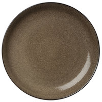 Oneida L6753059163 Rustic 12 1/4 inch Chestnut Porcelain Round Coupe Plate - 12/Case