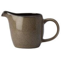Oneida L6753059802 Rustic 3 oz. Chestnut Porcelain Creamer - 24/Case