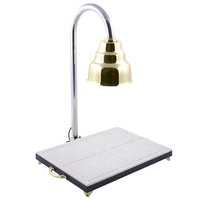Bon Chef 9694 Single Lamp 24 inch x 18 inch Carving Station with Brass Lamp Shade