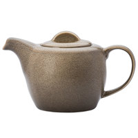 Oneida L6753059860 Rustic 14 oz. Chestnut Porcelain Teapot - 12/Case
