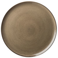 Oneida L6753059898 Rustic 12 1/2 inch Chestnut Porcelain Pizza Plate - 12/Case