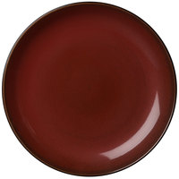 Oneida L6753074151 Rustic 10 1/2 inch Crimson Porcelain Round Coupe Plate - 12/Case