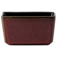 Oneida L6753074980 Rustic Crimson 3 3/4 inch Porcelain Sugar Caddy - 24/Case