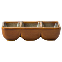Oneida L6753066920 Rustic 3 oz. Sama Porcelain Three Compartment Dish - 24/Case