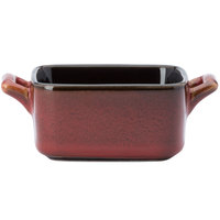 Oneida L6753074981 Rustic 3 oz. Crimson Porcelain Mini Baker - 48/Case