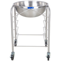 Vollrath 79302 Stainless Steel Mobile Mixing Bowl Stand with 30 Qt. Mixing Bowl and Tray Slides