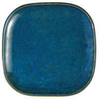 Oneida F1468994001 Studio Pottery Blue Moss 9 7/8 inch Square Porcelain Plate - 12/Case