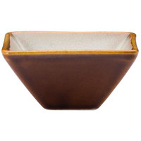 Oneida L6753066940 Rustic 2 oz. Sama Porcelain Square / Triangular Dish - 72/Case