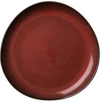 Oneida L6753074157P Rustic 11 1/4 inch Crimson Porcelain Plate - 12/Case