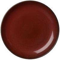 Oneida L6753074163 Rustic 12 1/4 inch Crimson Porcelain Round Coupe Plate - 12/Case