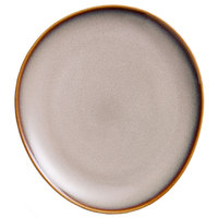 Oneida L6753066324 Rustic 7 1/4 inch Sama Porcelain Oval Coupe Plate - 36/Case
