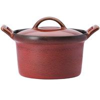 Oneida L6753074676 Rustic 16 oz. Crimson Porcelain Casserole Dish - 12/Case