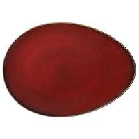 Oneida L6753074385 Rustic 14 inch Crimson Porcelain Eclipse Plate - 12/Case