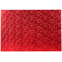 Enjay 1/2-17122512RED12 27 1/4 inch x 18 inch Fold-Under 1/2 inch Thick Full Red Cake Board