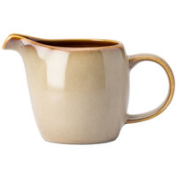 Oneida L6753066802 Rustic 3 oz. Sama Porcelain Creamer - 24/Case