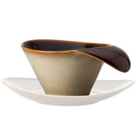 Oneida L6753066529 Rustic 7 oz. Sama Porcelain Teacup with Lip Handle - 24/Case