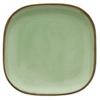 Oneida F1463067001 Studio Pottery Celadon 9 7/8 inch Square Porcelain Plate - 12/Case