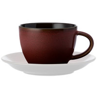 Oneida L6753074520 Rustic 6 oz. Crimson Porcelain Teacup - 24/Case