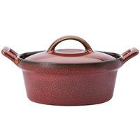 Oneida L6753074675 Rustic 8 oz. Crimson Porcelain Casserole Dish - 12/Case