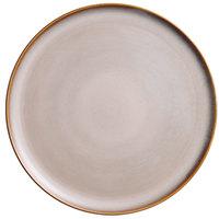 Oneida L6753066898 Rustic 12 1/2 inch Sama Porcelain Pizza Plate - 12/Case