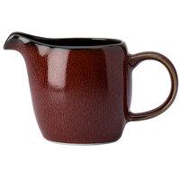 Oneida L6753074802 Rustic 3 oz. Crimson Porcelain Creamer - 24/Case