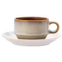 Oneida L6753066522 Rustic 6 oz. Sama Porcelain Stacking Coffee Cup - 24/Case