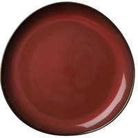 Oneida L6753074123P Rustic 7 inch Crimson Porcelain Plate - 36/Case