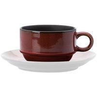 Oneida L6753074525 Rustic 2 oz. Crimson Porcelain Espresso Cup - 48/Case