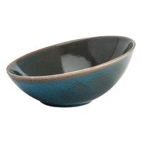 Oneida F1493020730 Terra Verde Dusk 18.5 oz. Porcelain Slanted Bowl - 12/Case