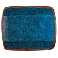 Oneida F1468994115S Studio Pottery Blue Moss 5 1/2 inch Square Porcelain Sushi Plate - 36/Case