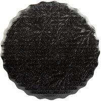 Enjay 8 inch Black Laminated Corrugated Cake Circle - 25/Pack