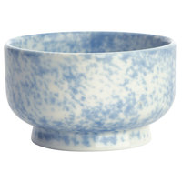Oneida F1463060285 Studio Pottery Cloud 8 oz. Porcelain Footed Bowl / Ramekin - 24/Case