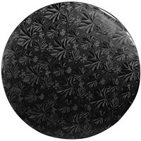 Enjay 1/2-12RB12 12 inch Fold-Under 1/2 inch Thick Black Round Cake Drum