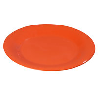 Carlisle 3301252 Sierrus 9 inch Sunset Orange Wide Rim Melamine Plate - 24/Case