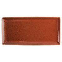 Oneida F1493025412 Terra Verde Cotta 13 inch x 6 1/4 inch Porcelain Rectangular Appetizer Tray - 12/Case