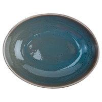 Oneida F1493020789 Terra Verde Dusk 52 oz. Porcelain Oval Bowl - 12/Case