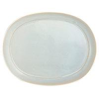 Oneida F1463051355 Studio Pottery Stratus 10 1/4 inch Porcelain Oval Platter - 12/Case
