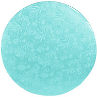 Enjay 1/2-12RBLUE12 12 inch Fold-Under 1/2 inch Thick Blue Round Cake Drum